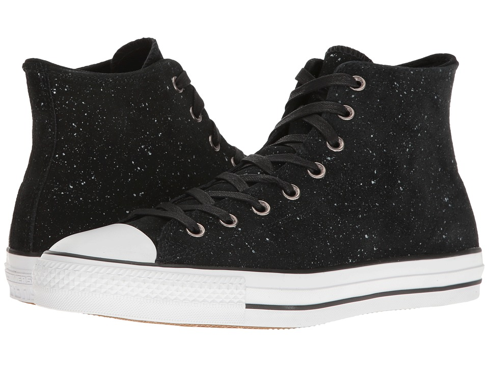 Converse Chuck Taylor All Star Pro Peppered Suede Hi (Black/White/Black) Men