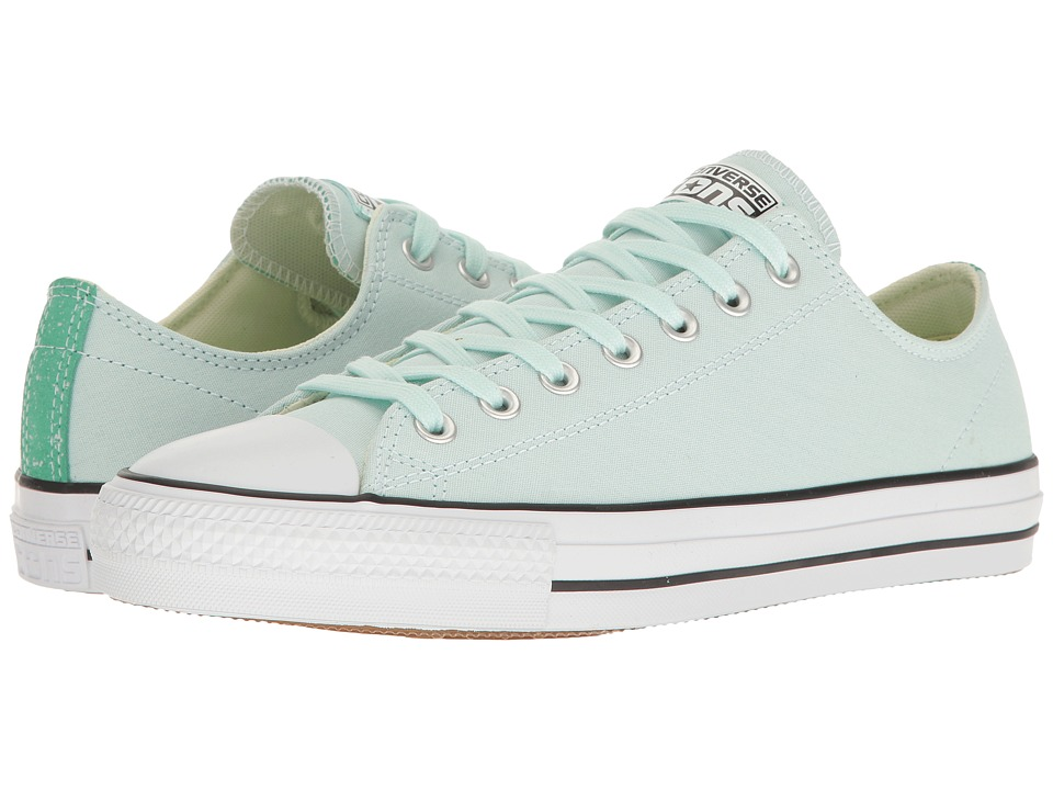 Converse Chuck Taylor(r) All Star(r) Pro Suede Backed Canvas Ox (Fiberglass Green Glow/Black) Men