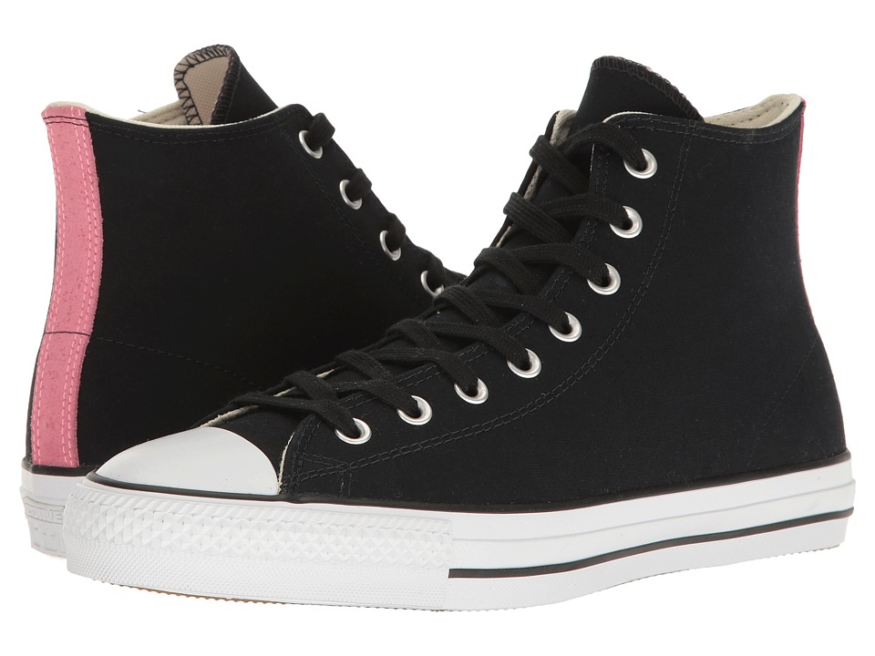 Converse Chuck Taylor(r) All Star(r) Pro Suede Backed Canvas Hi (Black/Pink Glow/Natural) Men