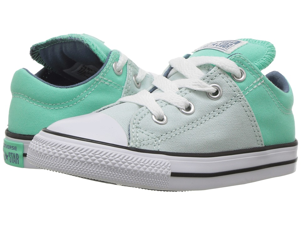 Converse Kids Chuck Taylor All Star Madison Ox (Infant/Toddler) (Fiberglass/Green Glow/Blue Coast) Girl