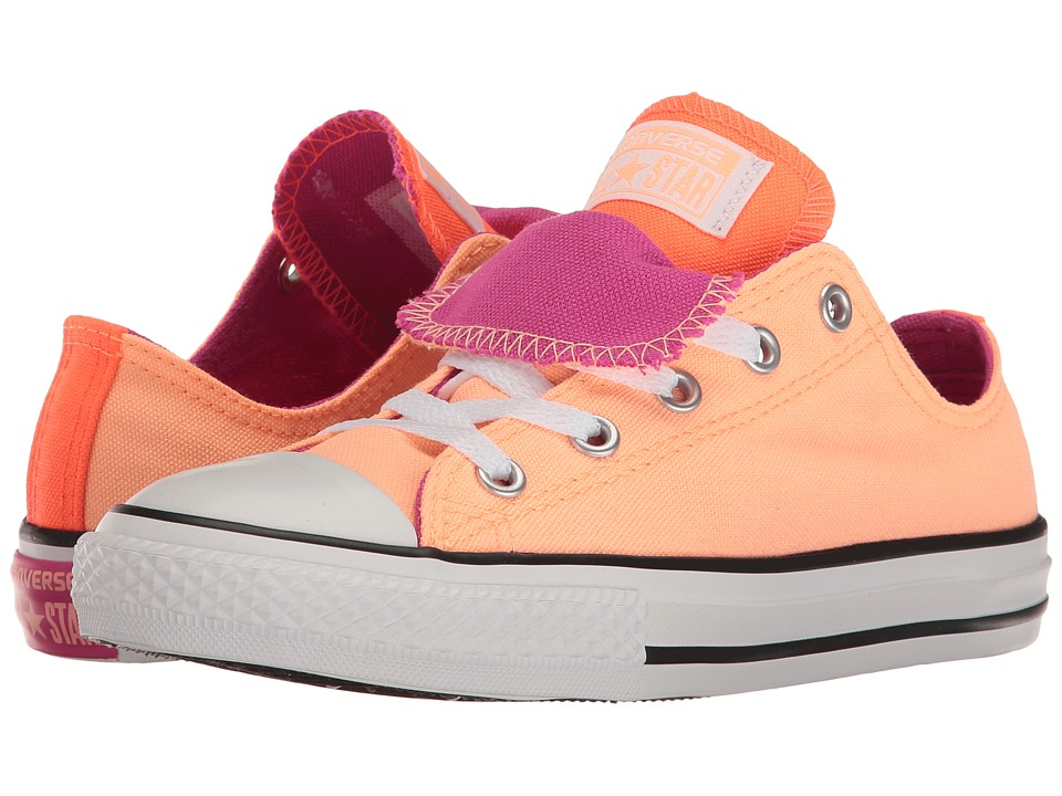 Converse Kids Chuck Taylor All Star Double Tongue Ox (Little Kid/Big Kid) (Sunset Glow/Hyper Orange/Magenta Glow) Girl