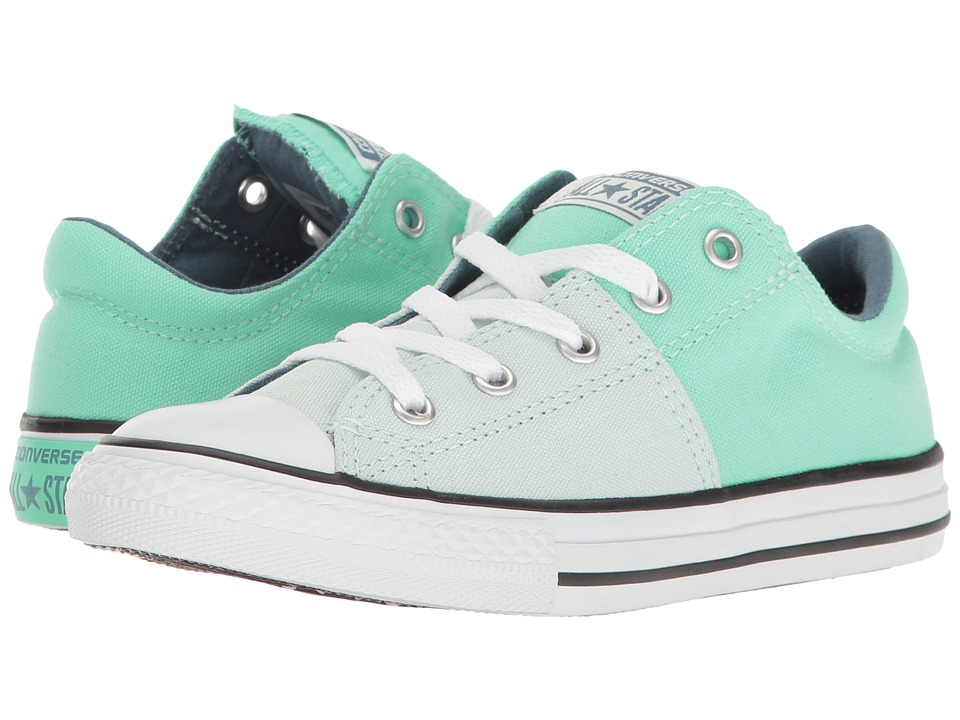 Converse Kids Chuck Taylor All Star Madison Ox (Little Kid/Big Kid) (Fiberglass/Green Glow/Blue Coast) Girl