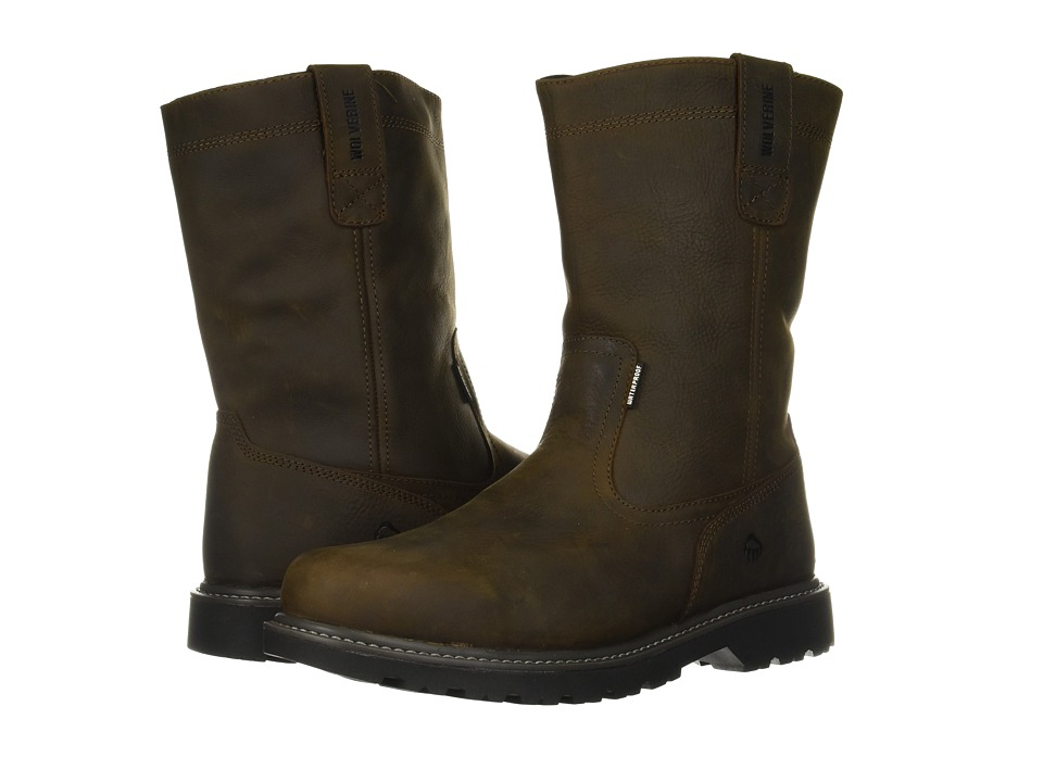 Wolverine Floorhand Welly 10 Soft Toe (Dark Brown) Men