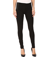 KUT from the Kloth - Joan Pull-On Skinny Pants in Black w/ Wine Grey
