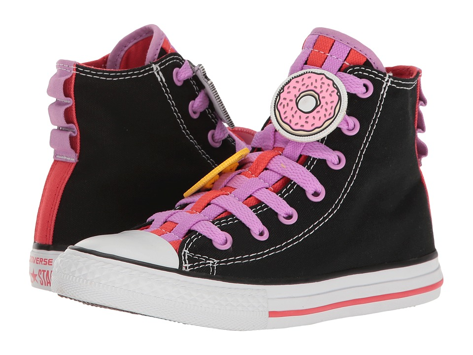 Converse Kids Chuck Taylor All Star Loopholes Emoji Hi (Little Kid/Big Kid) (Black/Ultra Red/White) Girl