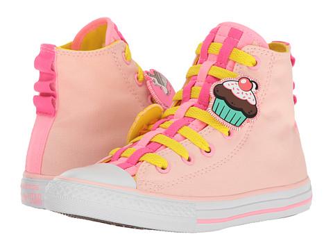 Converse Kids Chuck Taylor All Star Loopholes Emoji Hi (Little Kid/Big Kid) - Vaper Pink/Fresh Yellow/White