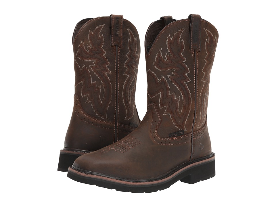 Wolverine Rancher Wellington Steel Toe (Dark Brown/Rust) Men