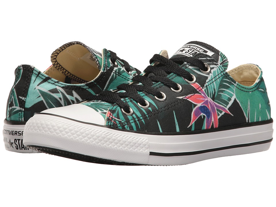 Converse - Chuck Taylor All Star Tropical Print Ox (Menta/Black/White) Womens Classic Shoes