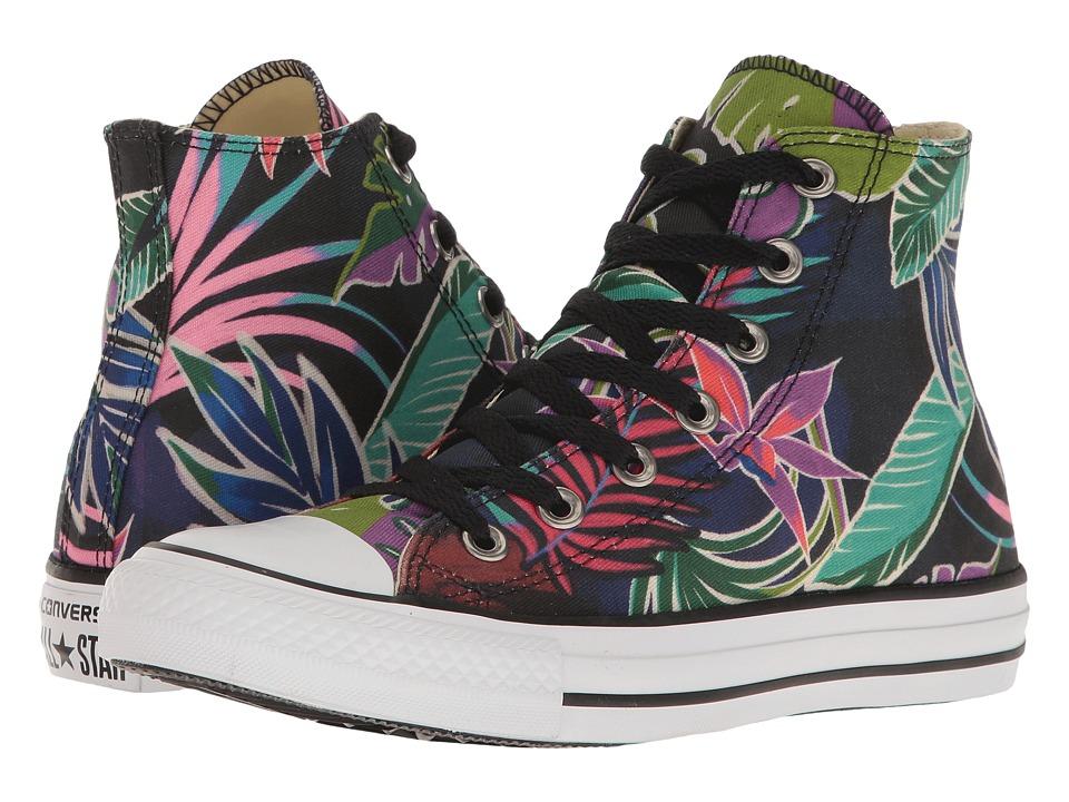 Converse - Chuck Taylor All Star Tropical Print Hi (Fuchshia Glow/Menta/White) Womens Classic Shoes