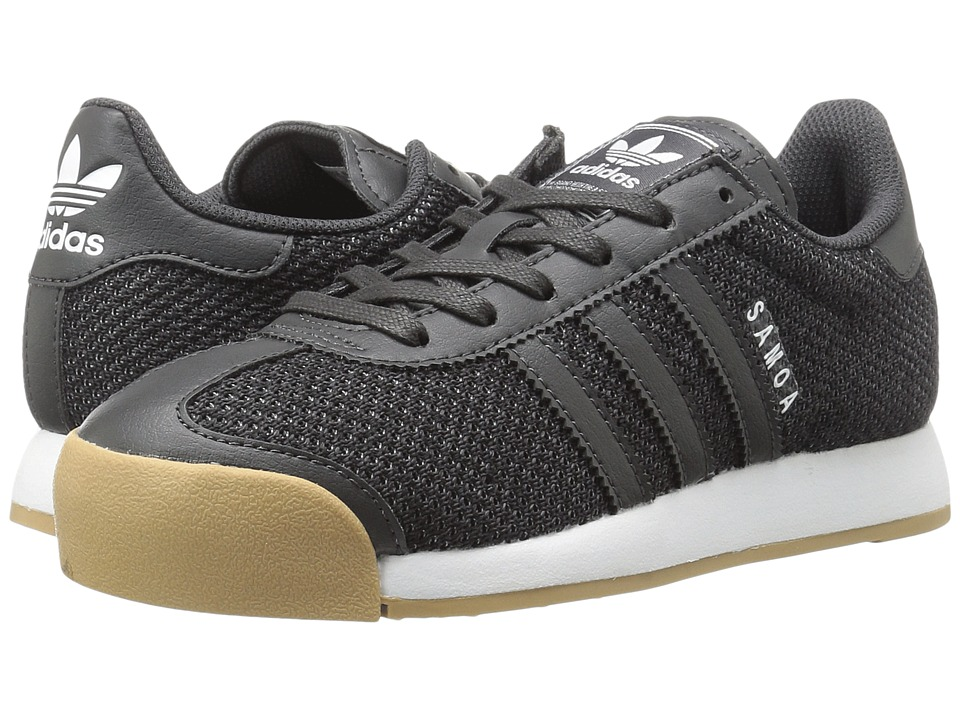adidas Originals Kids Samoa (Big Kid) (Utility Black/Utility Black/Gum) Kids Shoes