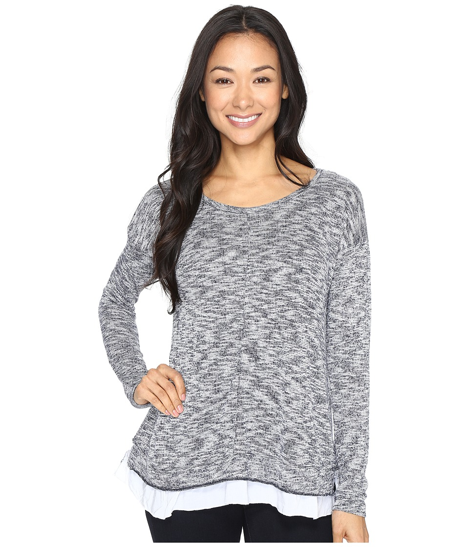 Mod-o-doc Breezy Slub Sweater Boxy Top (Navy) Women