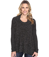 Mod-o-doc - Heather Sweater w/ Rib Long Sleeve Cowl Neck Pullover