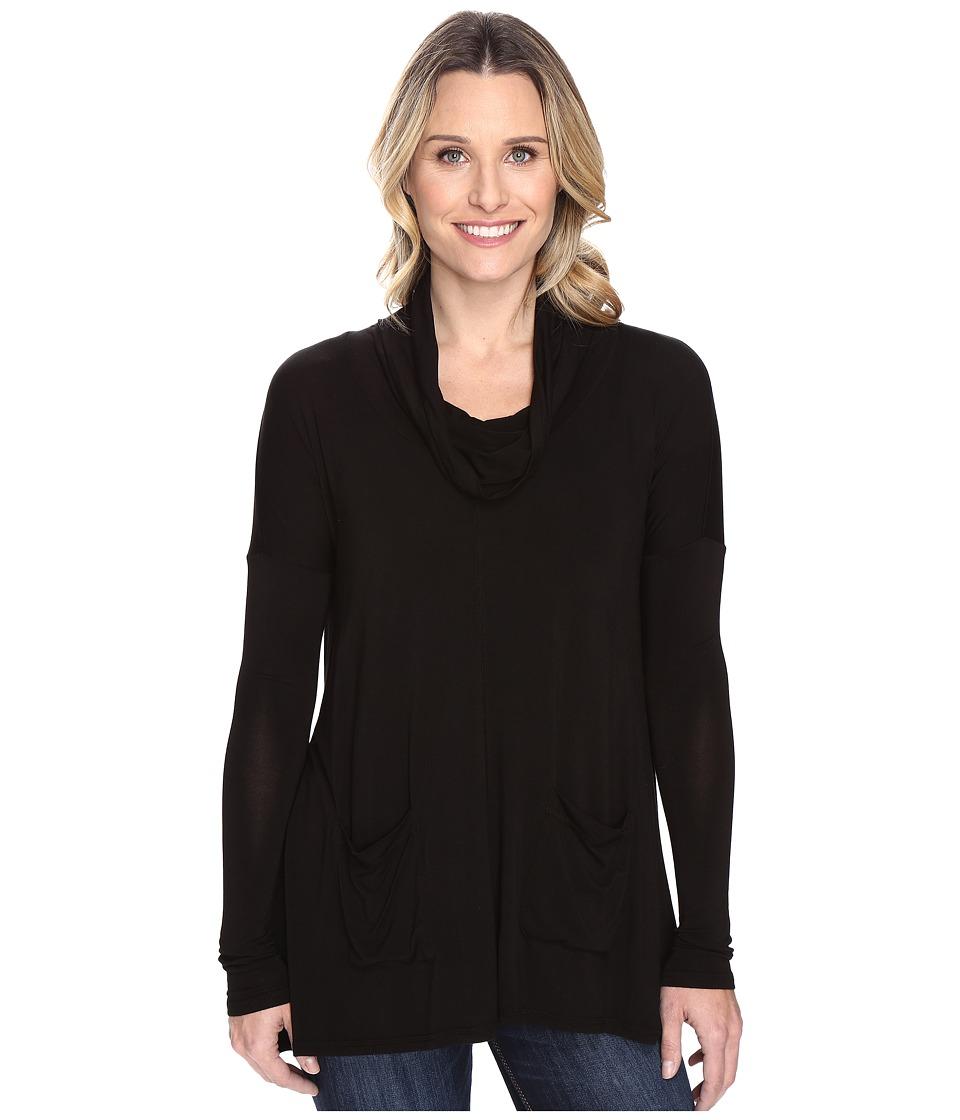 Mod-o-doc Rayon Spandex Jersey Pullover Cowl Funnel Tunic (Black) Women