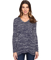 Mod-o-doc - Space Dyed Slub Sweater Seamed V-Neck Pullover