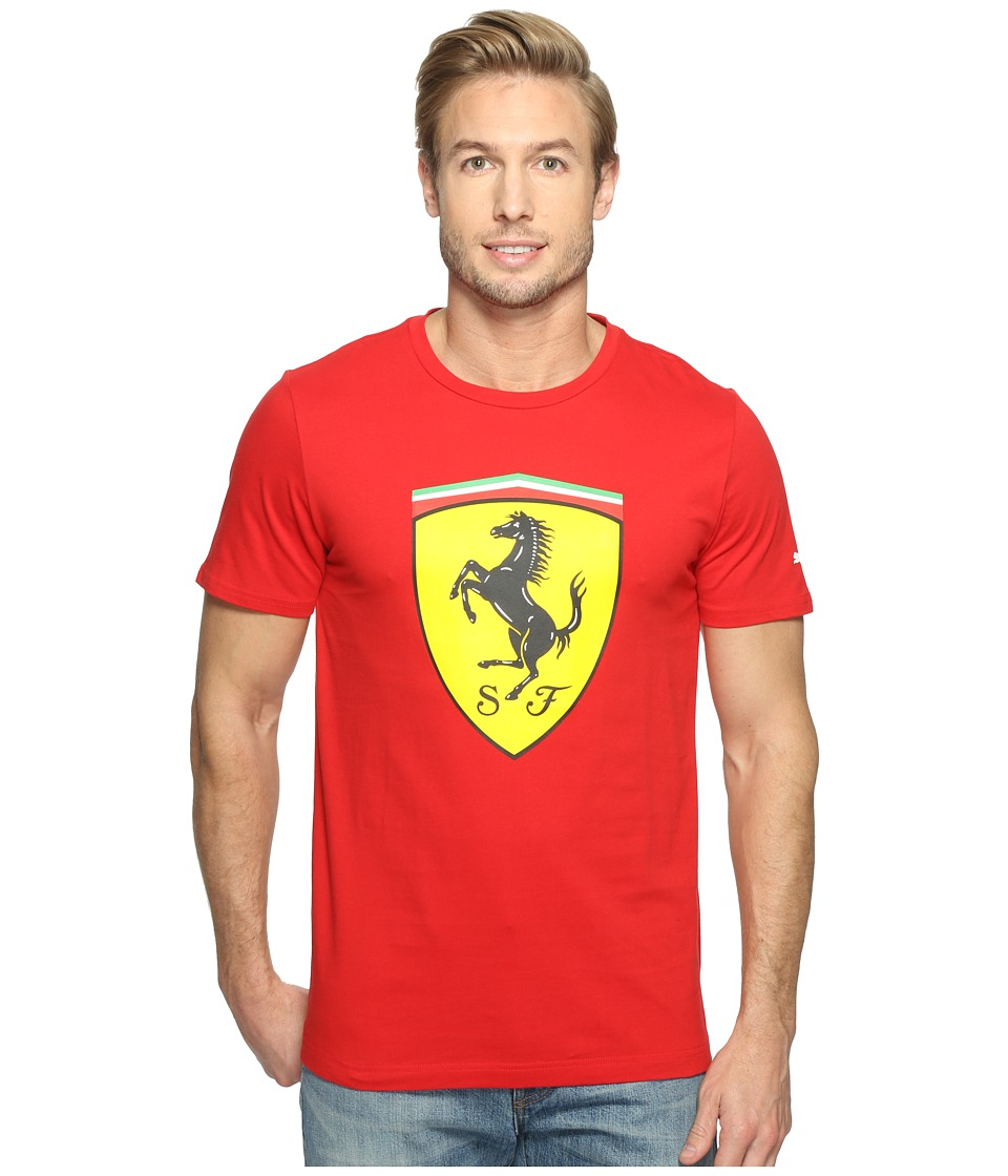 PUMA SF Big Shield Tee (Rosso Corsa) Men