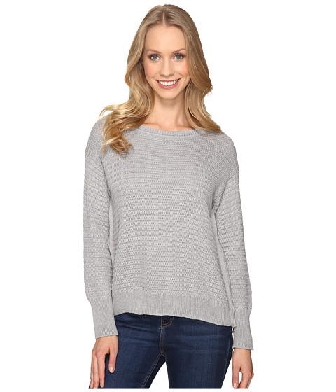 Mod-o-doc Fully Fashion Sweater Side Zip Sweater - Heather Grey