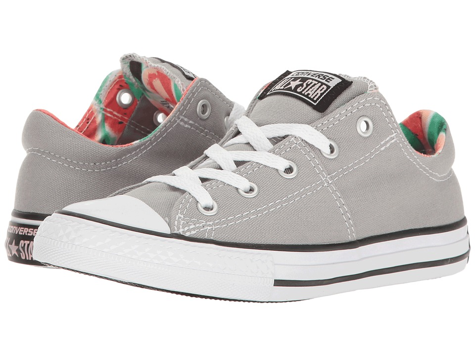 Converse Kids Chuck Taylor All Star Madison Ox (Little Kid/Big Kid) (Dolphin/Vapor Pink/White) Girl