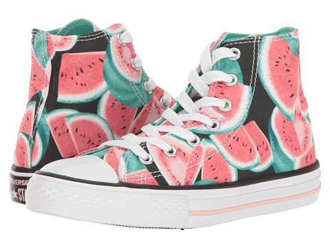 Converse Kids Chuck Taylor All Star Hi (Little Kid/Big Kid) - Vapor Pink/Green Glow/White