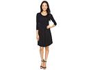 Cotton Modal Spandex Jersey Crescent Empire Seam Dress