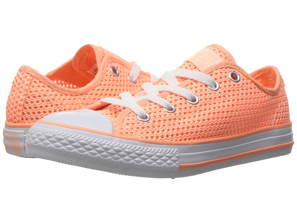 Converse Kids Chuck Taylor All Star Ox (Little Kid/Big Kid) (Sunset Glow/Sunset Glow/White) Girl
