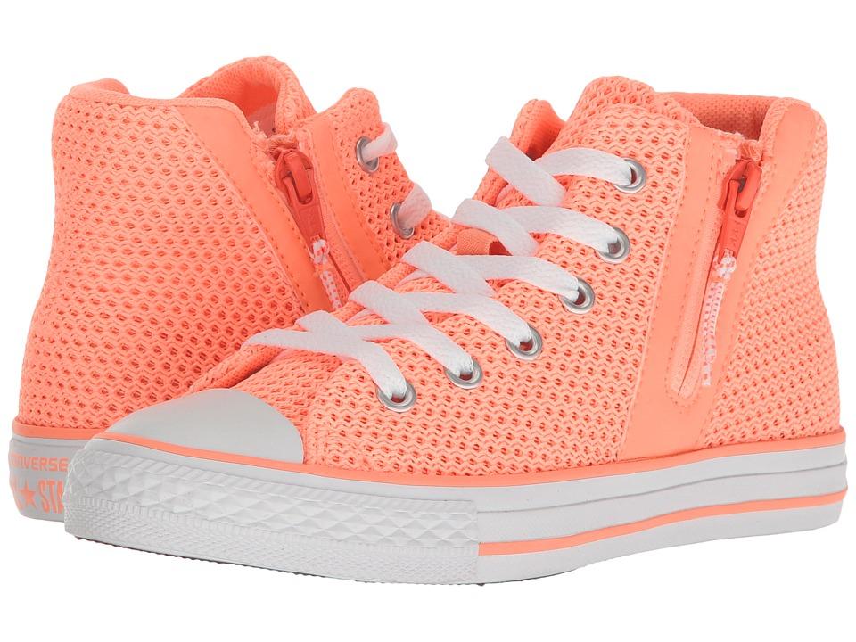 Converse Kids Chuck Taylor All Star Sport Zip Hi (Little Kid/Big Kid) (Sunset Glow/Hyper Orange/White) Girl