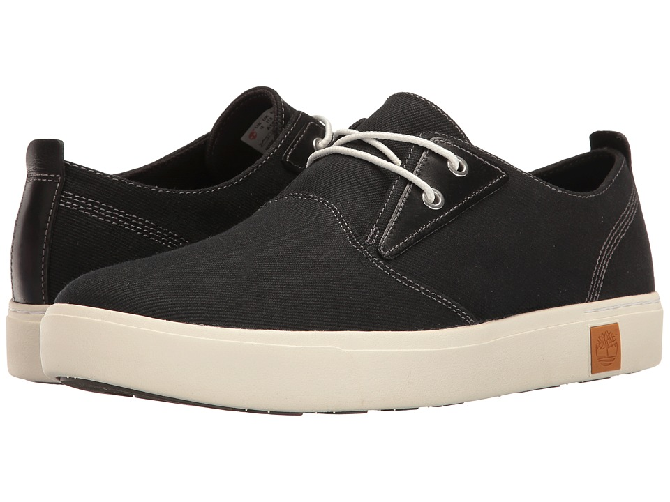 Timberland Amherst Plain Toe Canvas Oxford (Black Canvas) Men