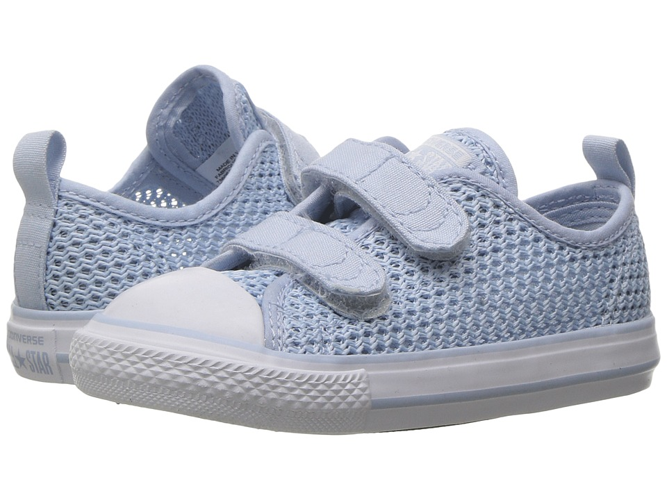 Converse Kids Chuck Taylor All Star Ox 2V (Infant/Toddler) (Porpoise/Porpoise/White) Girl