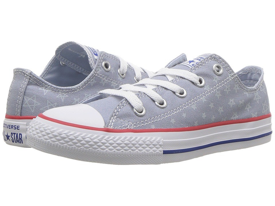 Converse Kids Chuck Taylor All Star Ox (Little Kid/Big Kid) (Blue Granite/Porpoise/Blue) Girl