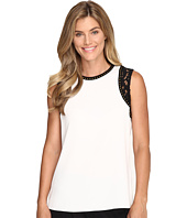 Calvin Klein - Sleeveless Top w/ Lace and Studs