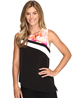 Calvin Klein - Sleeveless Angled Bottom Top w/ Print
