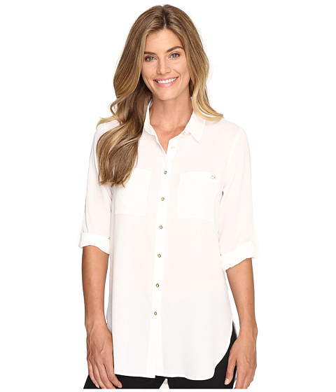 Calvin Klein Roll Sleeve Tunic - Soft White
