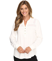Calvin Klein - Long Sleeve Top w/ Lace Yoke