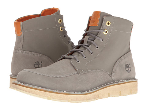 Timberland Westmore Leather Fabric Boot - Medium Grey Nubuck/Canvas