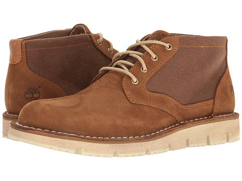 Timberland Westmore Leather Fabric Chukka - Medium Brown Nubuck/Canvas
