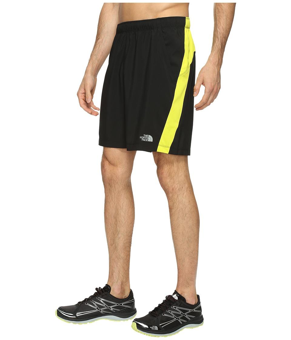 The North Face Reactor Shorts (TNF Black/Sulphur Spring Green) Men