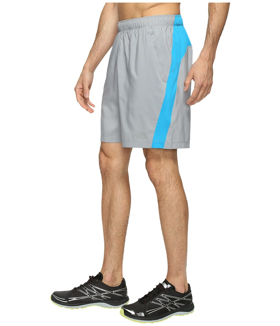 The North Face Reactor Shorts (Mid Grey Heather/Hyper Blue) Men