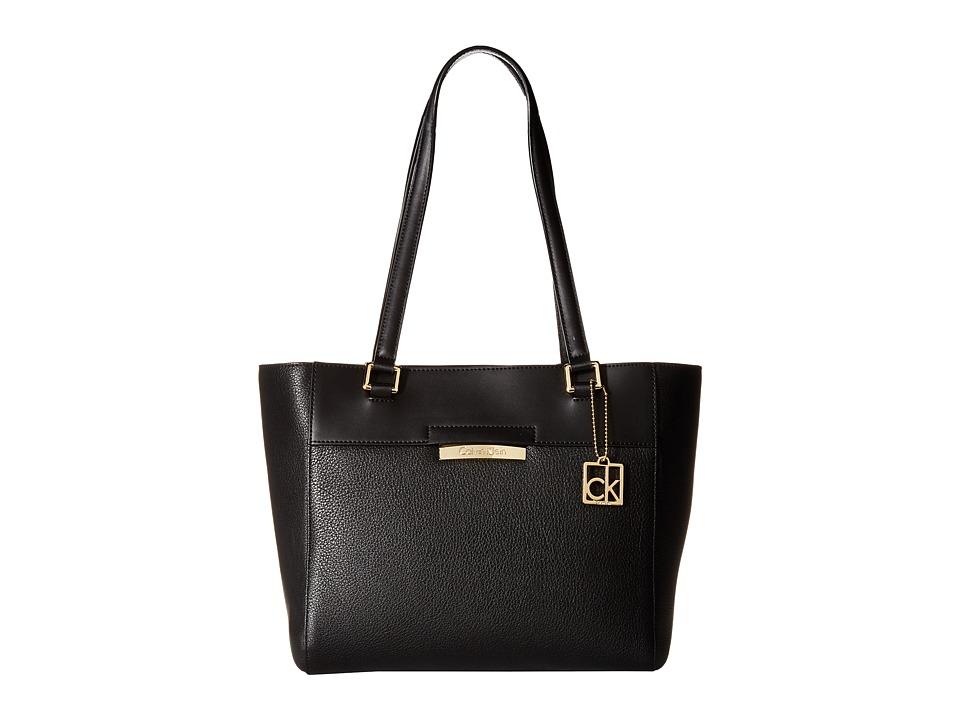 Calvin Klein - Rowan Pebble Tote (Black/Gold) Tote Handbags