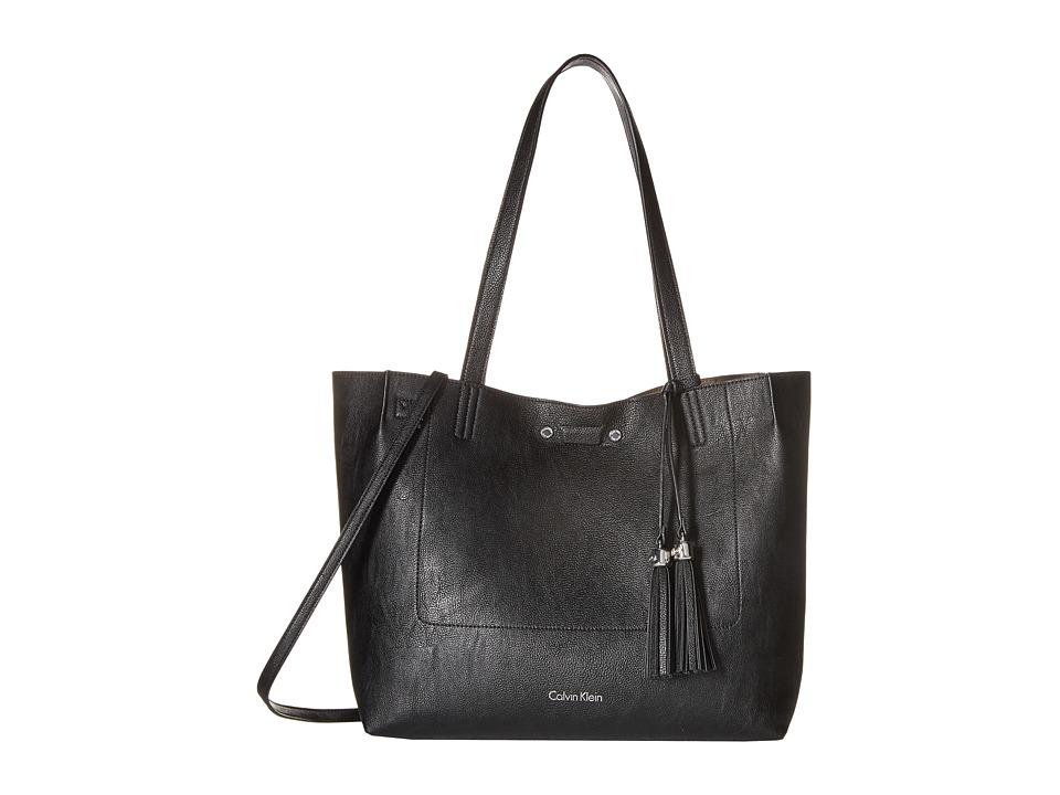 Calvin Klein - Reversibles Pebble Tote (Black/Grey) Tote Handbags