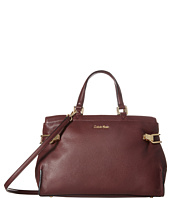 Calvin Klein - Pinnacle Pebble Leather Satchel