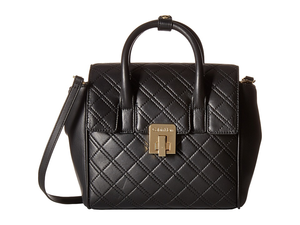 Calvin Klein - Permanent Quilted Lamb Backpack (Black/Gold) Backpack Bags