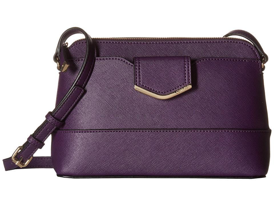 Calvin Klein - Saffiano Crossbody (Acai) Cross Body Handbags