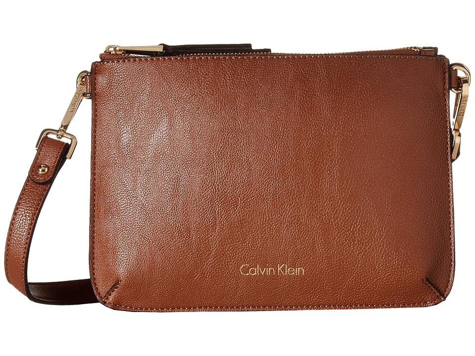 Calvin Klein - Reversibles Pebble PVC Messenger (Luggage/Black) Messenger Bags