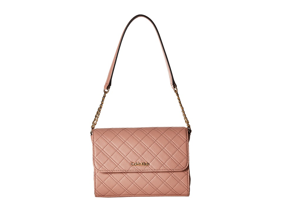 Calvin Klein - Permanent Quilted Pebble Shoulder Bag (Deep Blush) Handbags