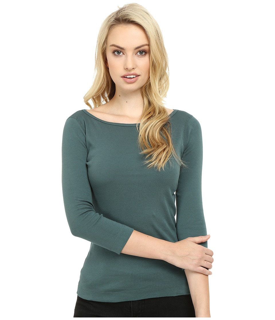 Three Dots - 3/4 Sleeve British Tee (Forage) Women