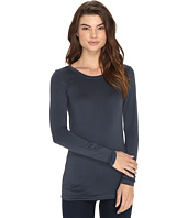 Three Dots - Lightweight Viscose L/S Open Crew Neck