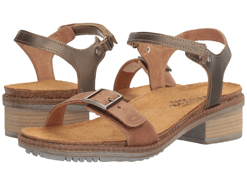 Naot Footwear Boho (Latte Brown Leather/Pewter Leather) Women