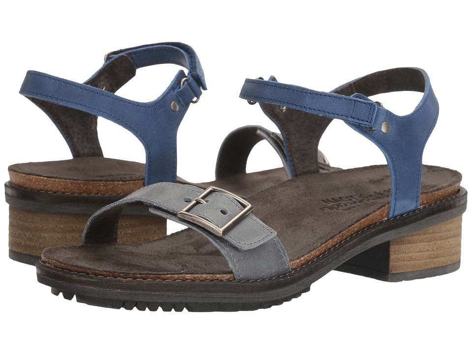 Naot Footwear Boho (Vintage Slate Leather/Oily Coal Nubuck) Women