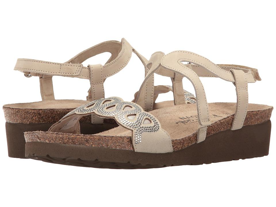 Naot Addie (Beige Nubuck/Quartz Leather/Silver Rivets) Women's Shoes