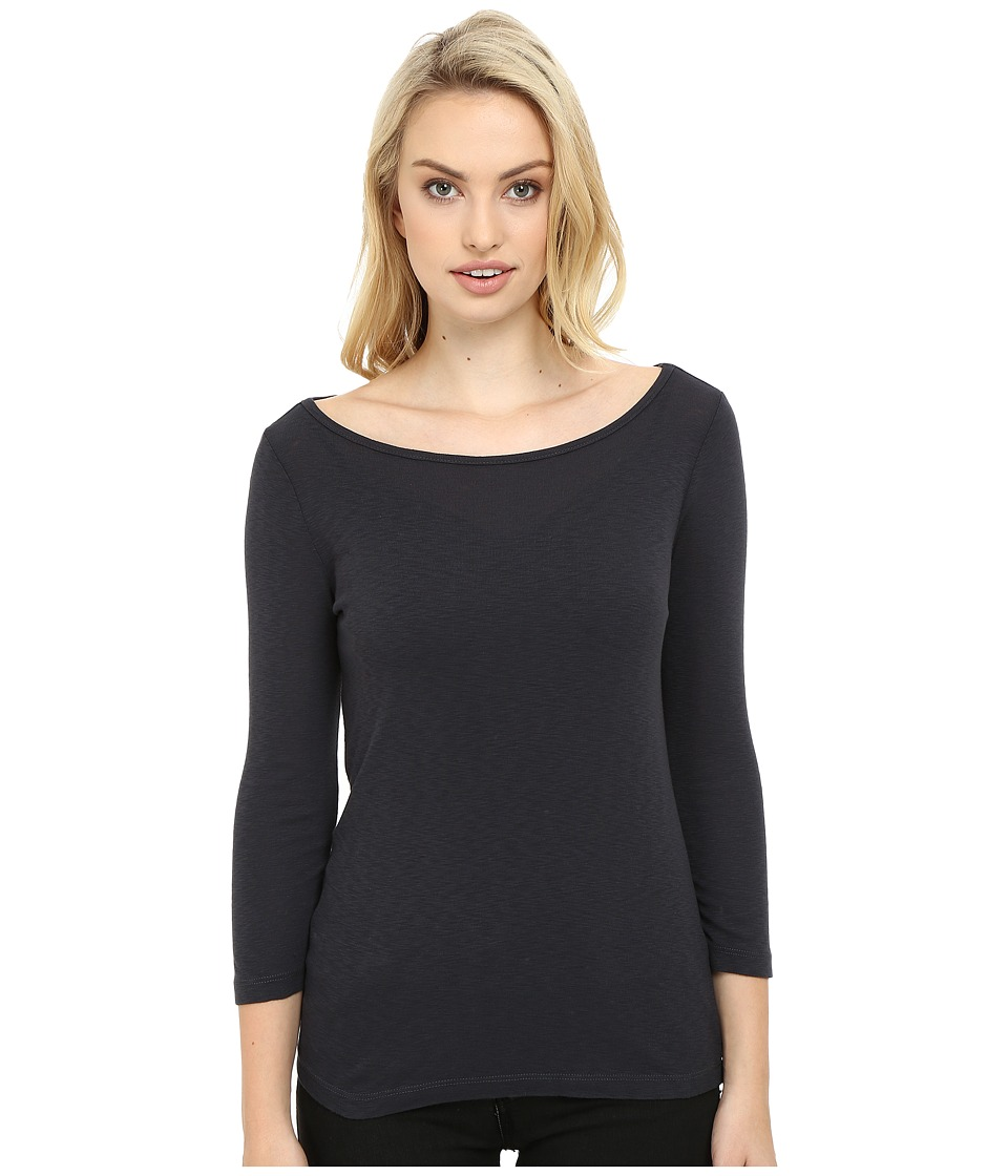 Three Dots - Hannah 3/4 Sleeve British Tee (Cinder) Women