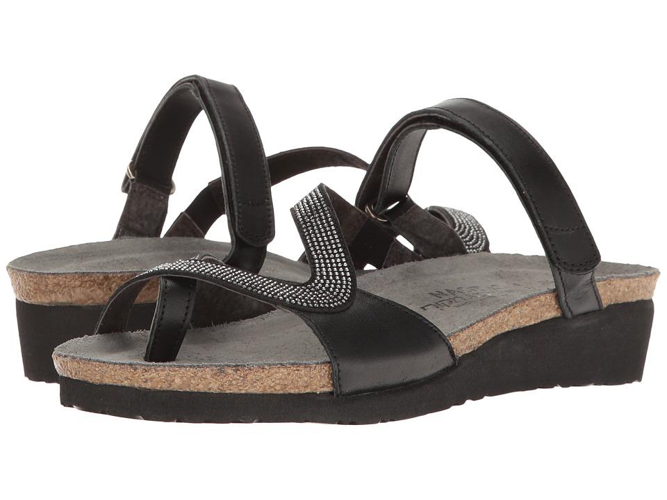 Naot Footwear Giovanna (Black Raven Leather/Gunmetal Rivets) Women